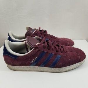 Adidas Gazelle Mens Sneaker Size 13 Burgundy Blue